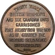 Token - Old Fort Henry (Kingston, Ontario) – reverse