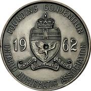 Medal - Ontario Numismatic Association Convention 1962 (Kitchener, Ontario) – reverse
