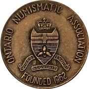 Medal - Ontario Numismatic Association Convention 1973 (Waterloo, Ontario) – reverse