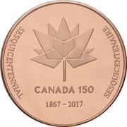 Medal - Ontario Numismatic Association (Canada 150) – reverse