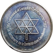 Medal - Confederation Centennial (Victoria & Elizabeth II) – reverse
