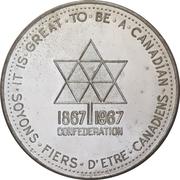 Medal - Canadian Centennial (Canadian Progress Club) – obverse