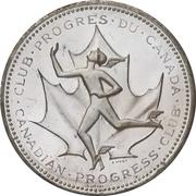 Medal - Canadian Centennial (Canadian Progress Club) – reverse