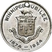 Token - Winnipeg 50th Anniversary Jubilee – obverse