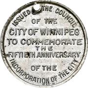 Token - Winnipeg 50th Anniversary Jubilee – reverse