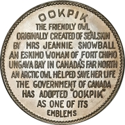 Token - Ookpik the friendly owl – reverse