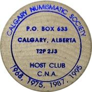 Token - Calgary Numismatic Society – reverse