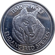 Token - World Endangered Species Coin Collection (Timber Wolf) – obverse