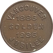 Token - Vancouver Jubilee – obverse