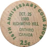 25 Cents - Richmond Hill Coin Show (Ontario) – reverse