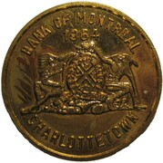 Token - Bank of Montreal (Centennial of the Meeting to Charlottetown) – obverse