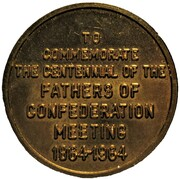 Token - Bank of Montreal (Centennial of the Meeting to Charlottetown) – reverse