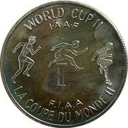 Souvenir Dollar - I.A.A.F. World Cup II  (Hurdles) – reverse
