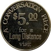 5 Dollars - Alberta Government Telephones -  reverse