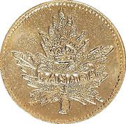 1 Dollar - British Columbia Gold (Maple leaf) – obverse