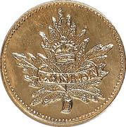 1 Dollar - British Columbia Gold (Maple Leaf & Union Jack) – obverse