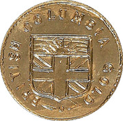 1 Dollar - British Columbia Gold (Maple Leaf & Union Jack) – reverse