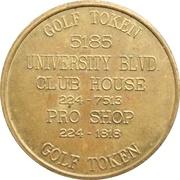 Golf Token - University Golf Club – reverse