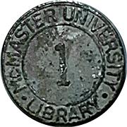 Token - McMaster university library (Hamilton, Ontario) – obverse