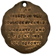 Token - Dominion of Canada Guarantee and Accident Insurance Co. – reverse