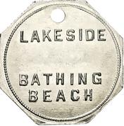Locker Token - Lakeside Bathing Beach (Port Dalhousie, Ontario) – reverse