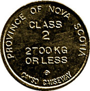 Toll Token - Canso Causeway (Class 2) -  obverse