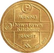 25 Cents - Parking or Bus Rides (Kitchener, Ontario) – reverse