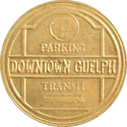 25 Cents - Parking or Transit  (Guelph, Ontario) – reverse