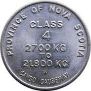 Toll Token - Canso Causeway (Class 4) – obverse