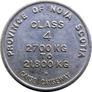 Toll Token - Canso Causeway (Class 4) – reverse