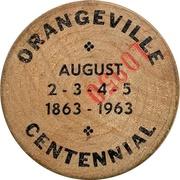 Wooden Nickel - Orangeville, Ontario – obverse