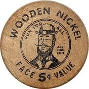 Wooden Nickel - Orangeville, Ontario – reverse