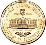 Medal - Centennial of Confederation - Prince Edward Island – reverse