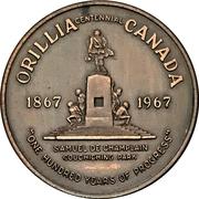 Medal - Orillia, Ontario Centennial – obverse