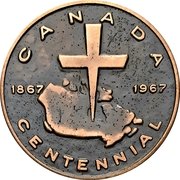 Medal - Canadian Centennial (Martin Luther) – obverse
