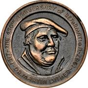 Medal - Canadian Centennial (Martin Luther) – reverse