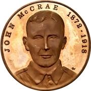 Medal - John McCrae (In Flanders Fields) – obverse