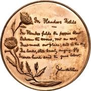 Medal - John McCrae (In Flanders Fields) – reverse
