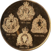 Medal - North West Mounted Police Act – reverse