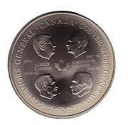 Medallion -  Elizabeth II (Four Governors General) – reverse