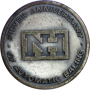 Medal - New Holland 25th Anniversary – obverse