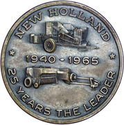 Medal - New Holland 25th Anniversary – reverse