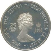 Medallion -  Elizabeth II (Four Governors General; Silver) – obverse