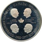 Medallion -  Elizabeth II (Four Governors General; Silver) – reverse