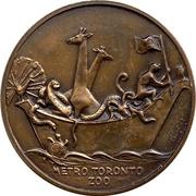 Medal - Metro Toronto Zoo – reverse