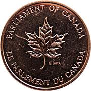 Token - Parliament of Canada – reverse