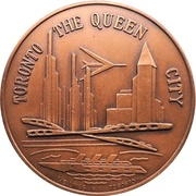 Medal - Canadian National Exhibition 1963 – reverse