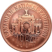 Medal - Canadian National Exhibition 1964 – obverse