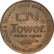 Medal - CN tower (Toronto, Ontario) – reverse
