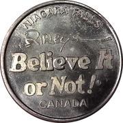 Token - Ripley's Believe It or Not! (Niagara Falls) – reverse